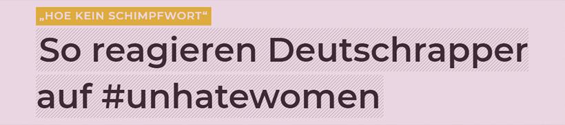 So reagieren Deutschrapper auf #unhatewomen. Sexualtherapeutin Brückelmayer im Interview