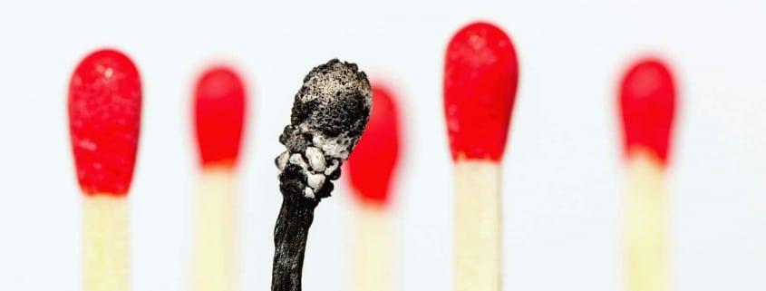 Burnout, Zündhölzer, Psychotherapie Brückelmayer